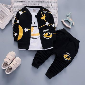 Toddler boys spring 3pcs clothing set newborn baby tracksuits costume for girls casual infant sport suits girls clothes suit