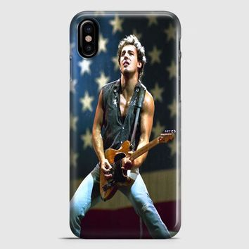 Bruce Springsteen Born To Run Quote iPhone X Case