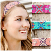 Barista Beaded Cross Headbands