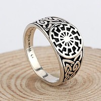 Silver Men's Ring with engraving