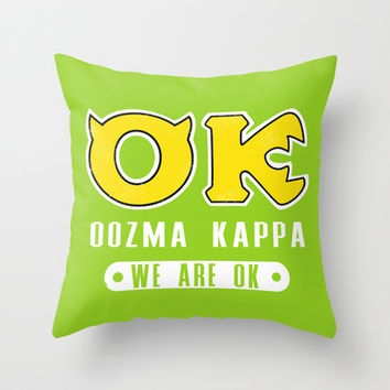 Oozma Kappa: We're Okay! Throw Pillow by LookHUMAN