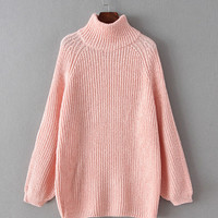 Turtleneck Knitted Loose Sweater