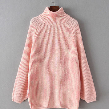 Turtleneck Knitted Loose Sweater from East Nova