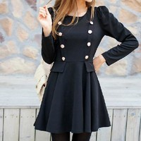 Fashion show thin long sleeve dress