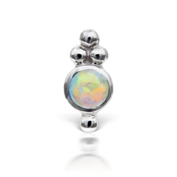 Opal Four Ball Trinity Threaded Stud (Tragus)