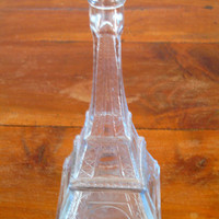 Vintage French Glass Eiffel Tower Bottle 1937 Paris Exhibition