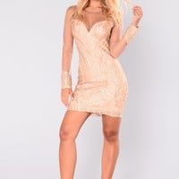 Tao Sequin Dress - Gold