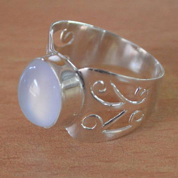Beautiful Moonstone Ring,Blue Moonstone Rings,June Birthstone Ring,handmade Ring,Gemstone ring,NEW Silver moonstone Blue ring Size 5 to 10