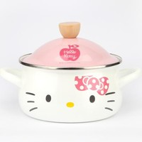 Hello Kitty Enamel Stew Pot: White