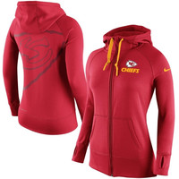 Kansas City Chiefs Nike Womens Warpspeed All Time Full-Zip Hoodie - Red