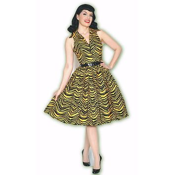 Mari Dress in Jungle Tiger Print