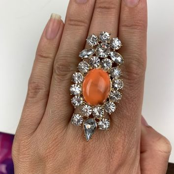"""""""Who Runs the World?"""" Cocktail Ring"""