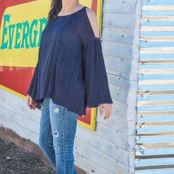 Move This Way Cold Shoulder Top