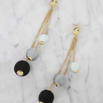 Let it Linger Earrings in Black and Gold