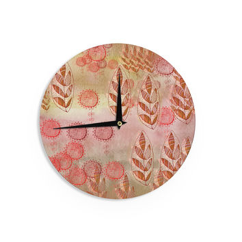 "Marianna Tankelevich ""Summer Music"" Red Orange Wall Clock"
