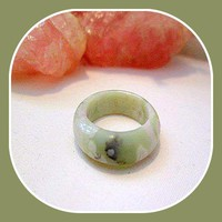 """Serenity "" Peace Jade Ring Size 7"