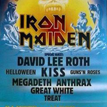 Iron Maiden Monsters Of Rock Music Poster