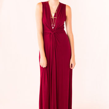 Easy To Love Maxi in Burgundy