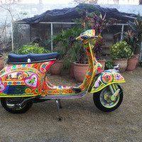 Vespa 150 super 1970 Restored Scooter Pakistan Truck Jingle Folk Art Hand Paint in Scooters & Mopeds | eBay Motors