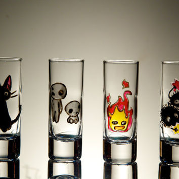 Studio Ghibli Design Shot Glasses