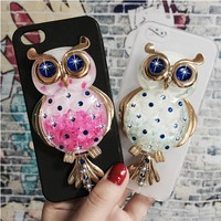 Original Phone Cases Cover for Apple iPhone 4 4S 3D Quicksand Liquid Soft Silicone Case Girl Back Covers Capa Fundas Shell