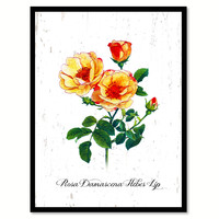 Yellow Rose Flower Canvas Print with Picture Frame Floral Home Decor Wall Art Living Room Decoration Gifts