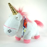 "Despicable Me Unicorn - 12"" Fluffy Plush Unicorn"