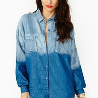 Fade Up Denim Blouse