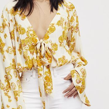 Forties Feel Bodysuit - Ivory Combo by Free People