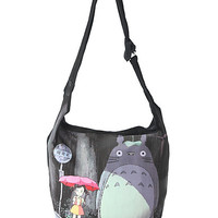 Studio Ghibli My Neighbor Totoro Rainy Bus Stop Hobo Bag