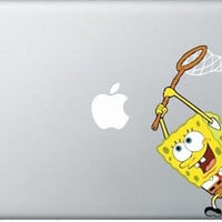 Sponge Mac Decal Macbook Stickers Macbook Decals by letsdoscience