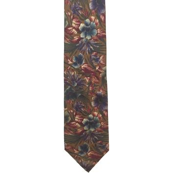 Christian Dior Monsieur Floral Wide Silk Necktie - Brown