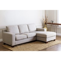 ABBYSON LIVING 'Beverly' Grey Fabric Sectional Sofa | Overstock.com Shopping - The Best Deals on Sectional Sofas