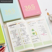 Day Planner Luxury Notebook Blank Inner 120 Sheets 2017 Planner Sketchbook Diary Note Book Journal Stationery School Tools