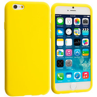 Yellow Silicone Soft Skin Rubber Case Cover for Apple iPhone 6 Plus 6S Plus (5.5)