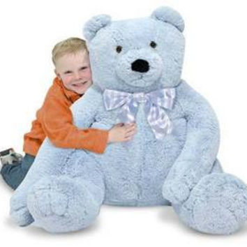 Melissa & Doug Jumbo Blue Teddy Bear 3983