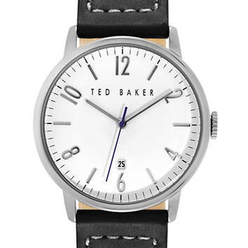 Ted Baker Mens Stainless Steel and Leather Watch