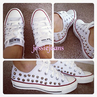 Semi spike studded Converse by Jessiejeans on Etsy