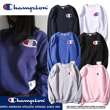 Champion Classic Logo Embroidered Sweater S-XXL