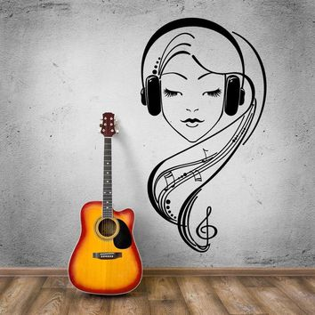 """""""In The Zone""""  Music Lover Headphones Vinyl Wall Decal"""