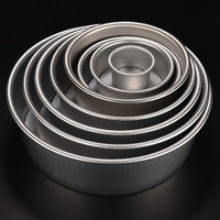 8 Size Aluminum Alloy Removable Bottom Round Cake Bake Mould Pan Bakeware Tool