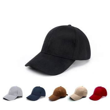 Trendy Winter Jacket 9 Panel Solid Color Faux Suede Baseball Cap Snapback Caps Casquette Hats Fitted Casual Gorras Dad Hats For Men Women homme AT_92_12