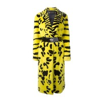 Iconic Very Rare Versace Zebra Animal Intarsia Mink Coat Fall 2013