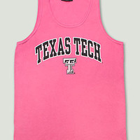 Texas Tech Arch over Double T on Berry Tank Top