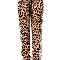 The MOB Cat Sweatpants in Natural Leopard