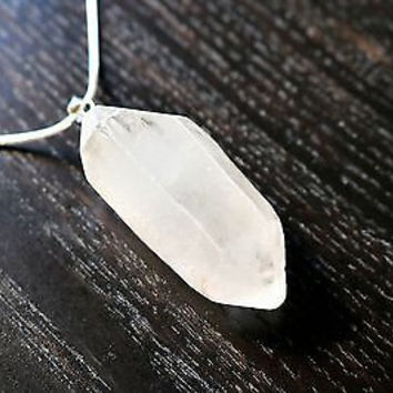 Raw Quartz Necklace - Healing Crystals, Crystal Necklace, Quartz Crystal