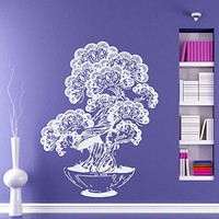 Wall Decals Ornamental Tree In A Flowerpot Decal Vinyl Sticker Family Bedroom Nursery Baby Room Home Decor Ms207