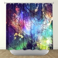 DiaNoche Designs Shower Curtains by Arist Sylvia Cook Unique, Cool, Fun, Funky, Stylish, Decorative Home Decor and Bathroom Ideas - Look to the Stars