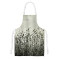 "Iris Lehnhardt ""Summer Grasses"" Neutral Gray Artistic Apron"
