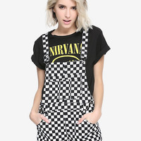 Blackheart Checkerboard Short Overalls